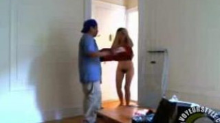 She answers the door totally naked for another pizza delivery guy