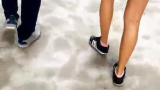 Nice Slim Tanned Toned Legs~ (Part 2/3) Wait for it. Upskirt is in part 3. #sggirls