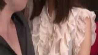 痴女の美人エロお姉さんがアナル舐めして結合部丸見え騎乗位SEX