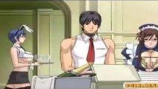 エロアニメ 爆乳 メガネ 乳 バニー