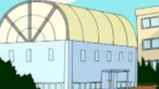 スポーツ学校のアニメセックス