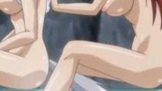 エロアニメ ハーレム 水着 美女 セックス
